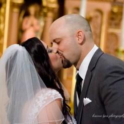 Lopez Moryl Wedding - ceremony kiss