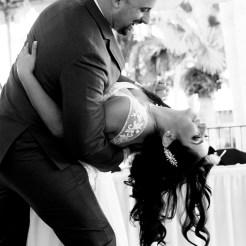 Lopez Moryl Wedding - first dance dip bw