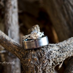 Lopez Moryl Wedding - rings on vine