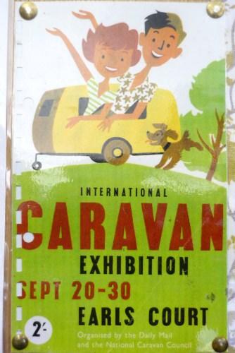 Vintage Caravan Exhibition Poster