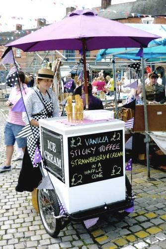 Ice Cream Seller at Ashbourne Vintage Street