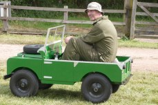 Miniature Land Rover at Stapleford