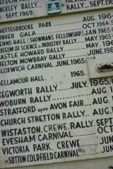 Steam rally sign