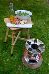 stove with fortuitous novelties collapsible stool