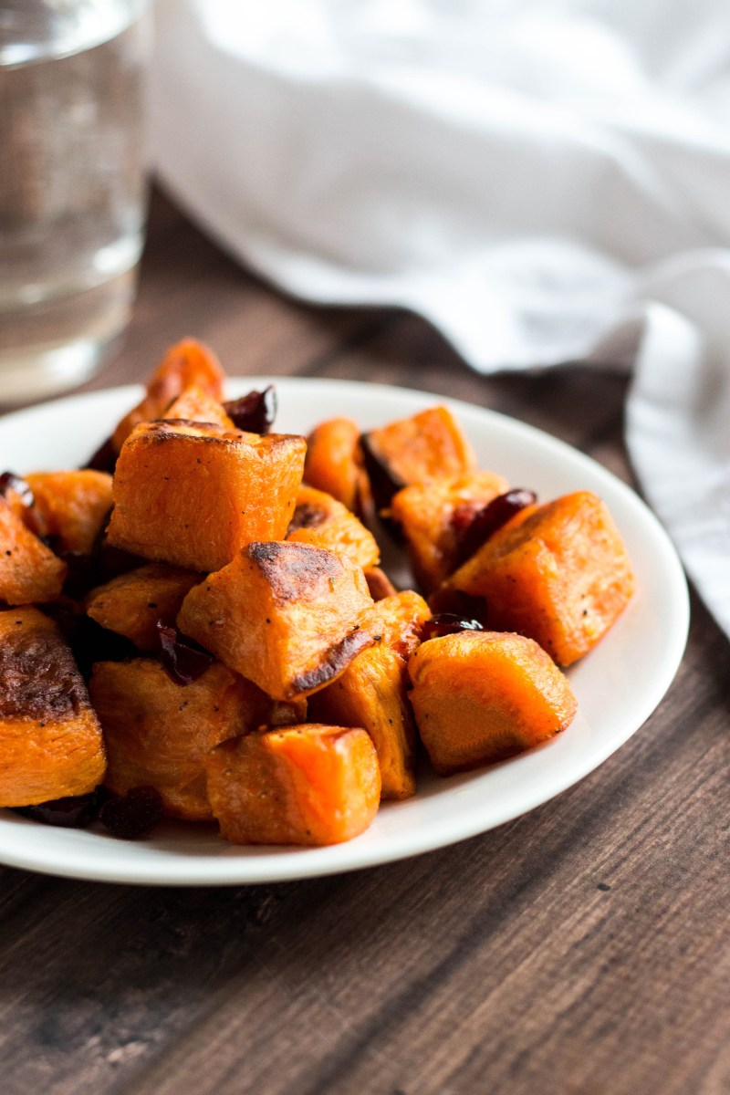 Sweet Potatoes with Cranberries & Apple Cider Vinaigrette