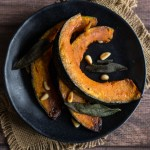 Kabocha Squash with Maple-Butter Glaze, Pine Nuts & Fried Sage