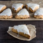 Gingerbread Scones with Lemon Glaze