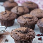 Double Chocolate Chip Muffins with Cranberries
