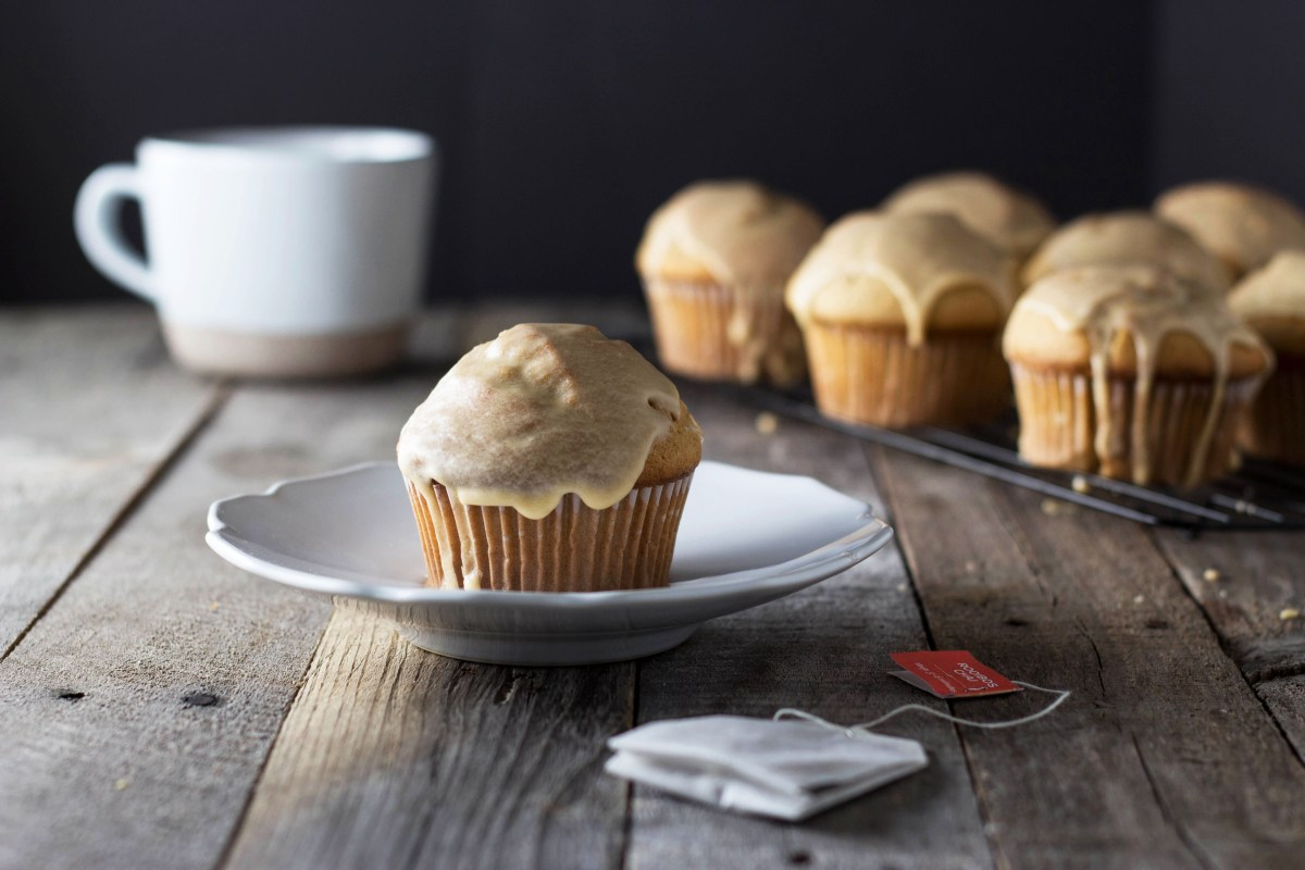 Glazed Chai Tea Muffins