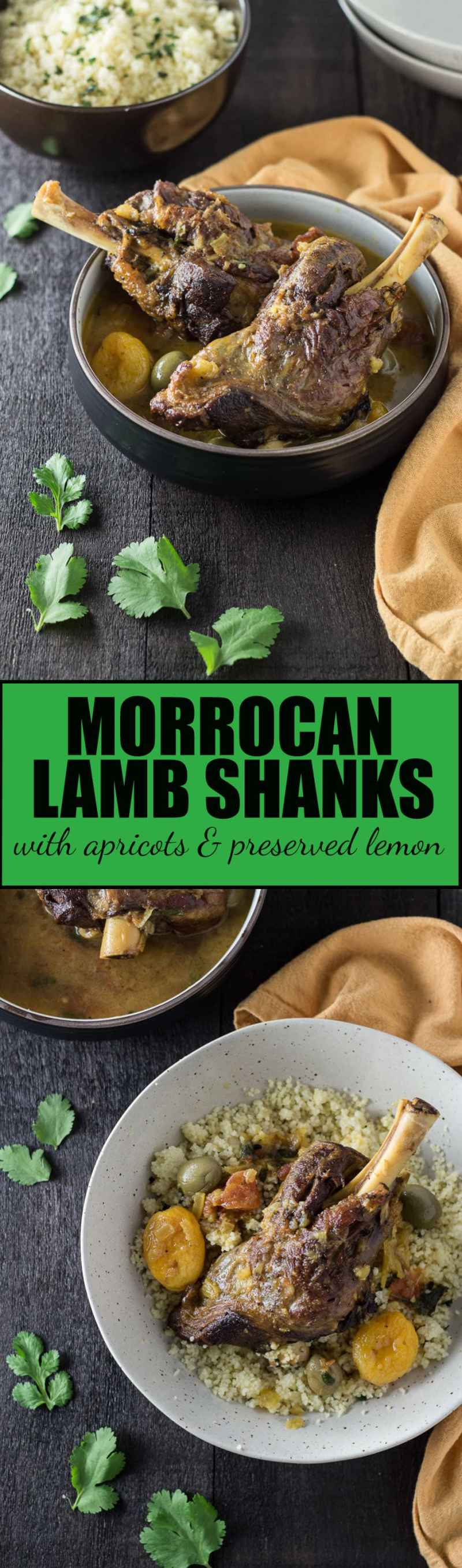 Moroccan Lamb Shanks with Apricots & Preserved Lemon