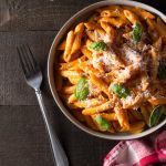 Penne Alla Vodka (Pasta with Tomato Cream Sauce)