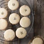 Glazed Lemon Lavender Shortbread Cookies