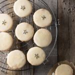 Glazed Lemon Lavender Shortbread Cookies