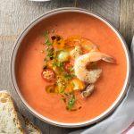 Gazpacho with Shrimp