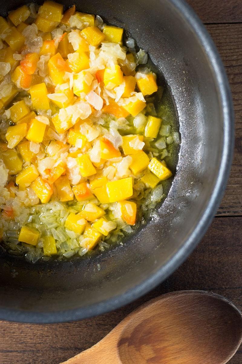 Butternut Squash Risotto with Fried Sage   Brinasbites.com @Brina's Bites