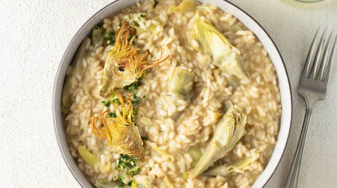 Artichoke Risotto with Gremolata