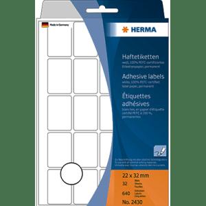 Crtz Etiquetas Herma Branco 2430 - 22x32mm