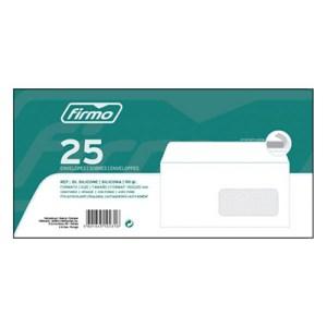 Maço c/25 envelopes 110x220mm - DL c/janela