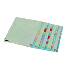Separador em cartão c/ 8 cores