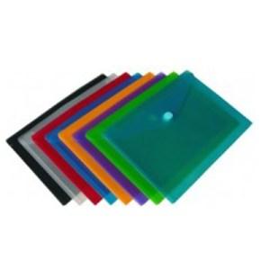 Emb. c/10 Bolsas Plasticas c/ Velcro A7 - Cores Sortidas