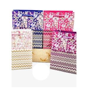 Emb. c/12 sacos XL - Sra. Riscas/Glitter