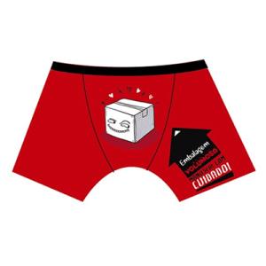 """Boxer vermelho """"Embalagem"""""""