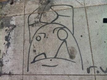 a cute and grump character.