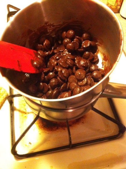 My sorry excuse for a double boiler <3