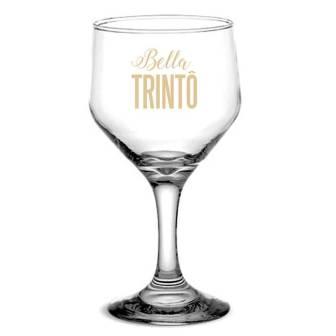 Taça de Vidro Personalizada Bistrô para Vinho Tinto e Branco Bella Trinto