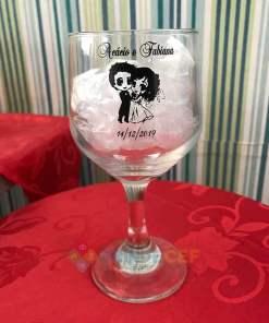 Taça de Vidro Personalizada Bistro de Vinho 260ml 1