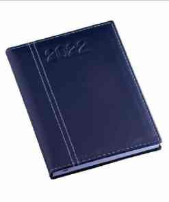Agenda Lisa Azul com Costura