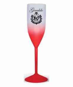 Taça de Acrílico de Champanhe Degrade Personalizada