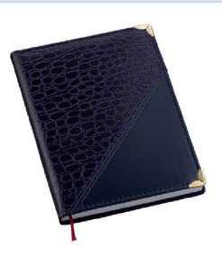 Agenda Croco Diagonal Azul