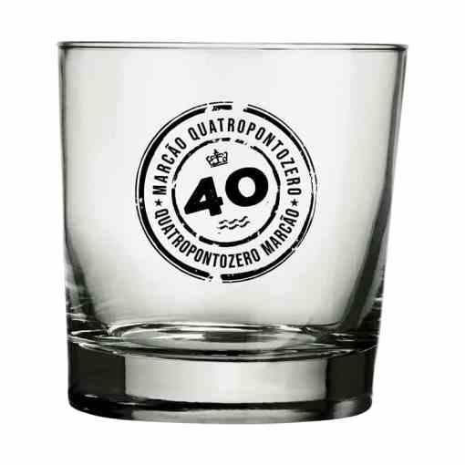 Copo de Whisky de Vidro Personalizado Atol 310ml