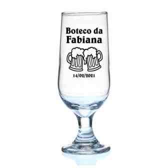 Taça de Vidro de Cerveja Hannover Personalizada Boteco da Fabiana