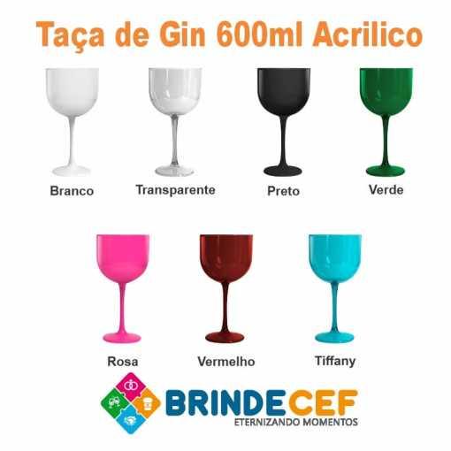 Taça de Gin de Acrílico 600 ml