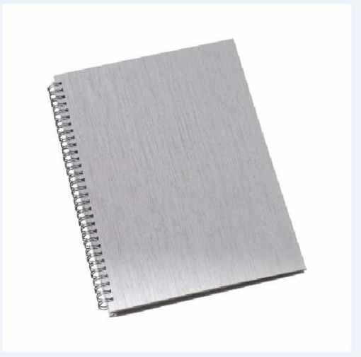 Caderno capa metalizada personalizado pequeno