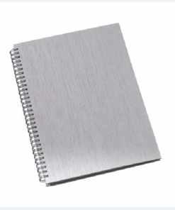 Caderno de Negócios Pequeno Capa Metalizada Prata