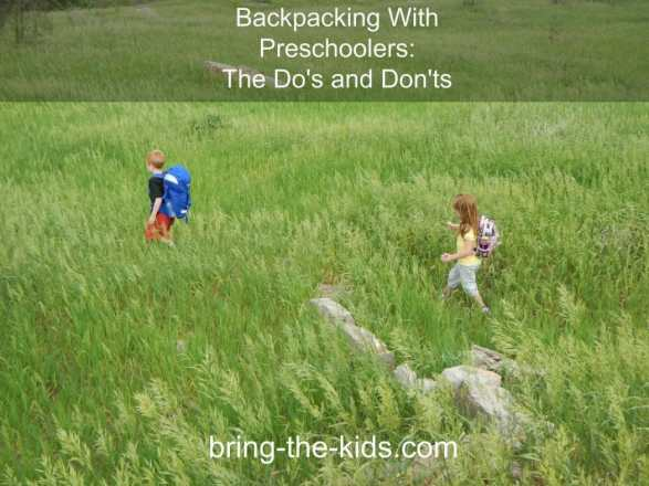 backpacking preschoolers