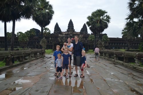 Family visit with kids to Angkor Wat