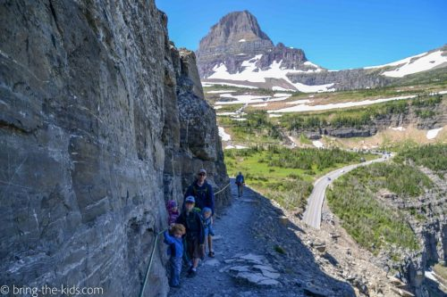 highline trail glacier with kids