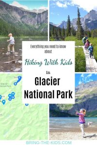 glacier national park map, hiking with kids
