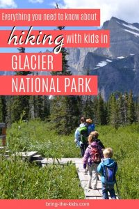 hiking with kids, glacier national park
