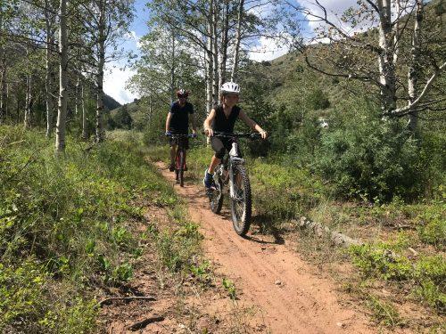 mountain biking dry fork flume