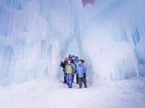Ice Castles with kids