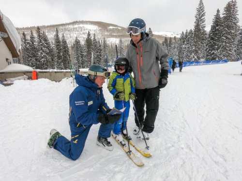 ski school with ski instructor