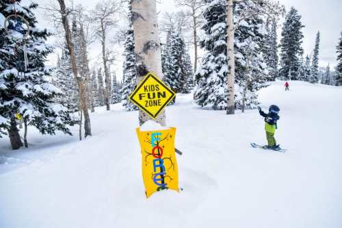 grand targhee kids fun zone skiing