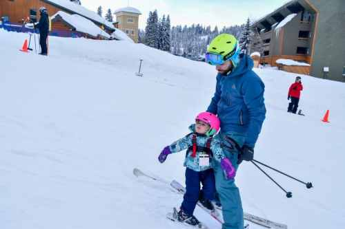 learning to ski at Grand targhee