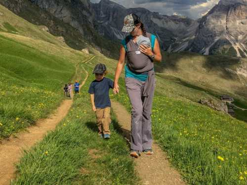 hiking with kids and baby