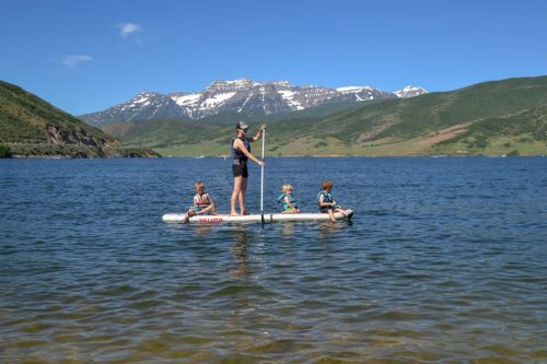 paddleboarding on deer creek reservoir